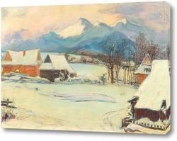 Постер Зимний пейзаж в Закопане
