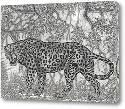 Картина Леопард в сумерках