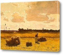 Картина Время сбора урожая 1881 год