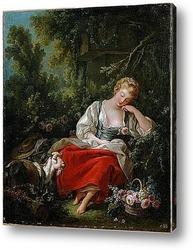 Картина Спящая пастушка