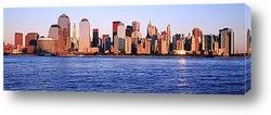 Вид на Манхэттен с Гудзона.