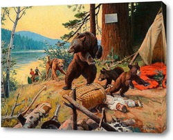 Постер Разбойники в лагере