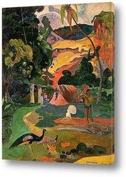 Картина Пейзаж с павлинами. 1892