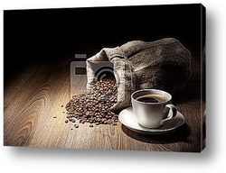 Падение чашки кофе