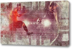 Постер Силуэты футболистов
