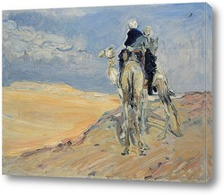 Картина Песчаная буря в пустыне Ливии
