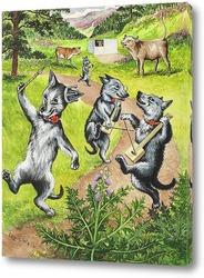 Картина Танцующие собаки