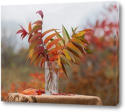 Постер Листья сумаха