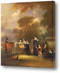 Томас Вилкайнсон, с Английскими паратыми гончими