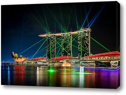Постер Лазерное шоу Marina Bay
