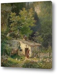 Вид Олевано Романо.Италия