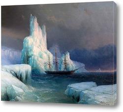 Ледяные горы в Антарктике. 1870
