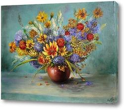 Этюд с летними цветами