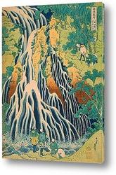 Картина Паломники на водопаде Кирифури на горе Куроками в провинции Шимо