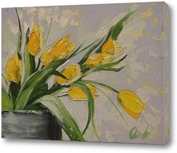 Постер Желтые тюльпаны