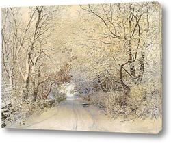 Картина Road, зимен пейзаж