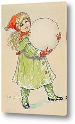 Девочка и снежный ком.