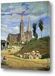 Картина Кафедральный собор в Шартре