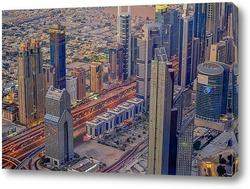 Постер Дубай с высоты птичьего полета