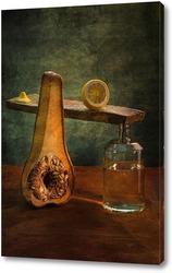 Постер Анатомия тыквы.Тыква с лимоном и дистиллированной водой