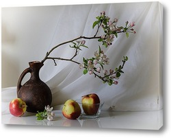 Постер С яблоневой веткой