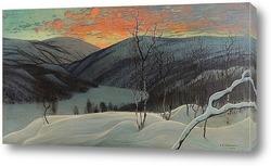 Картина Закат В Лапландии.