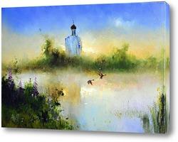 Картина Восход на Нерле