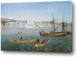 Постер Босфор и дворец Долмабахче, Стамбул