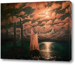 Картина Ночной морской пейзаж