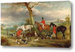 Картина Томас Вилкайнсон, с Английскими паратыми гончими