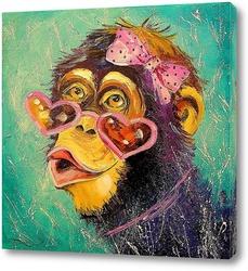 Картина Девочка обезьяна