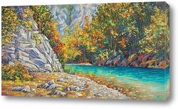 "Постер Картина: ""Река Хоста осенью"""