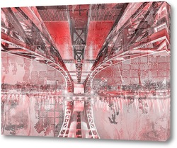 Постер мост Тояма