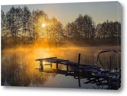 Красочное утро на пруду