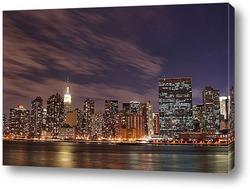 Ночной мост. Нью-Йорк