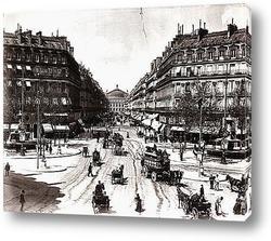 Проспект d\'Opera в Париже-конец 19в.