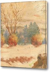 Картина Зимний склон
