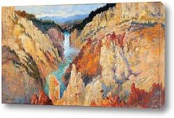 Картина Водопад Нижний Йеллоустоун