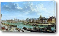 Вид Парижа с островом Ситэ