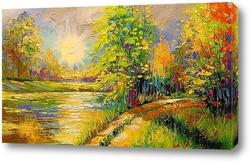 Картина На закате у реки