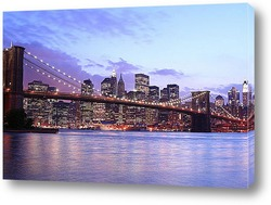 New York City FInancial District Skyline from across East River