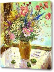 Картина Полевой букет с лесными орехами