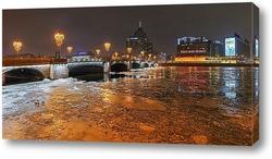 Постер Петербургские пейзажи, Сампсониевский мост