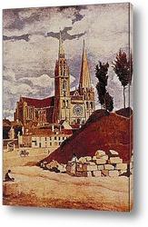 Картина Шартрский собор.1830