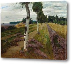 Картина Вереск, пейзаж