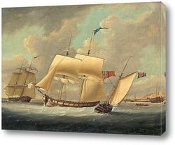 Постер Фетида пушки лодка Дувра