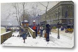 Картина Лувр под снегом