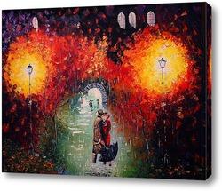 Картина Свидание под дождем.