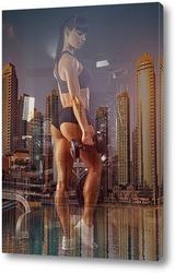 Картина Тренировка в мегаполисе