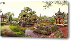 Постер Китайский летний сад